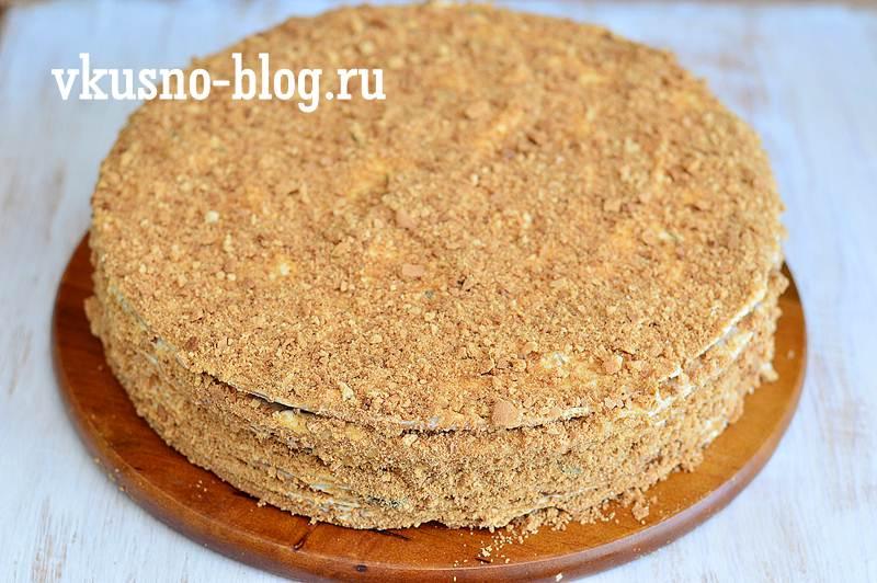 Медовик со сметанным кремом пошаговый рецепт