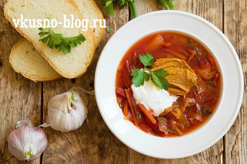 Борщ с мясом рецепт с фото