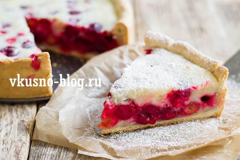 Вишневый пирог со сметаной