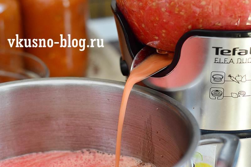 Томатный сок на зиму пошагово