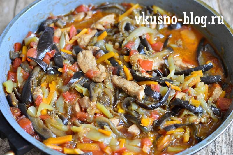 Соте из курицы с овощами рецепт