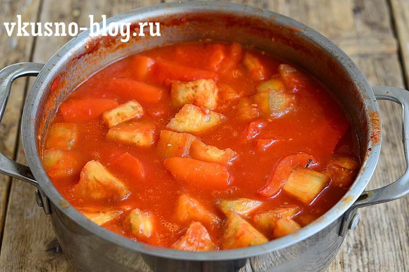 Рецепт лечо с баклажанами и перцем