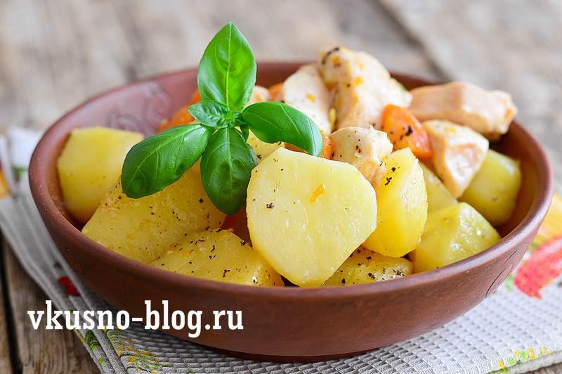 Картошка с курицей рецепт
