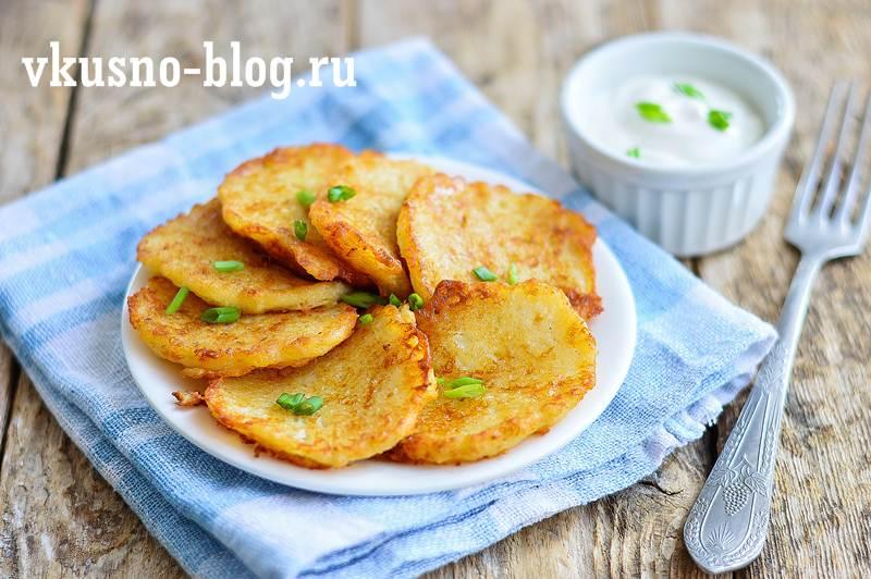 Драники картофельные с сыром фото