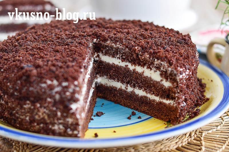 Торт со сметанным кремом рецепт пошагово