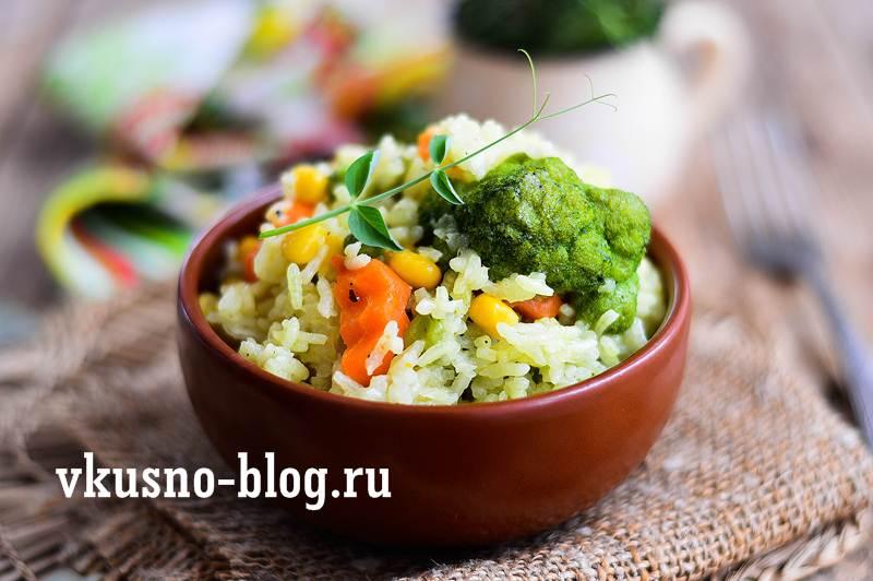 Постный плов с овощами рецепт