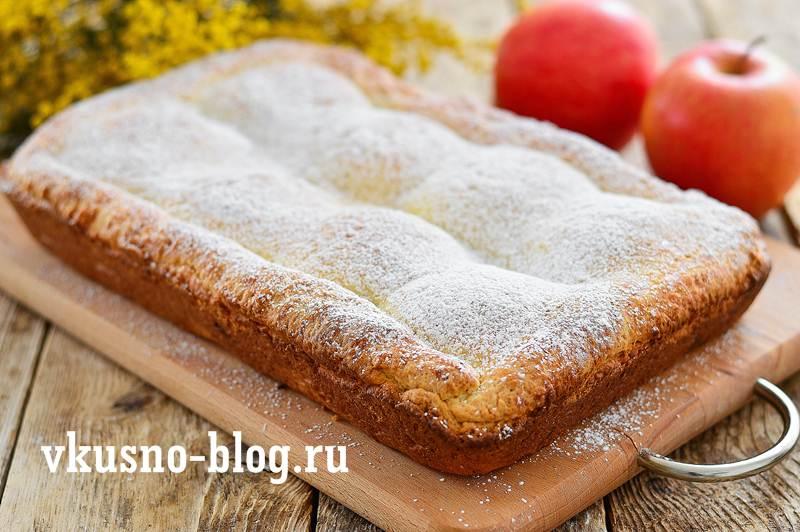 Творожно-яблочный пирог рецепт