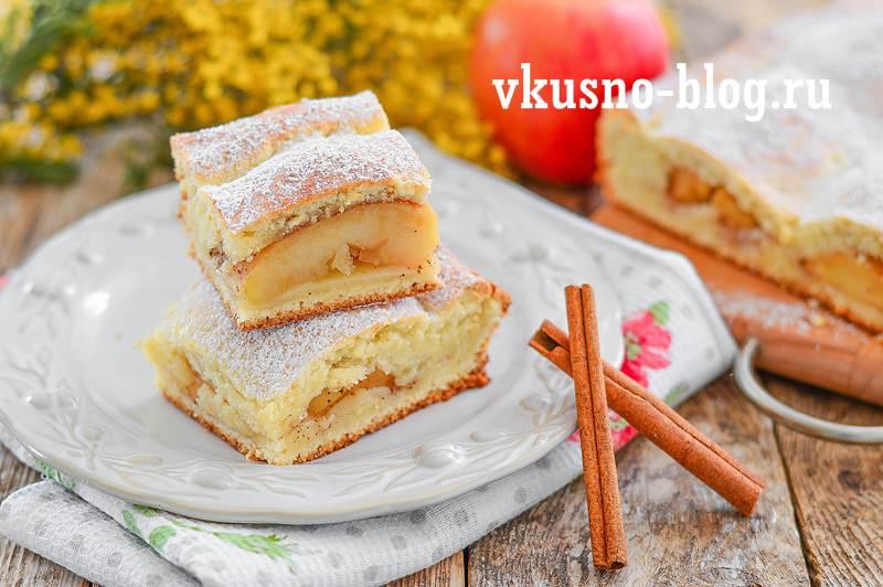 Творожно-яблочный пирог рецепт пошагово