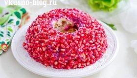 """Салат """"Гранатовый браслет"""", пошаговый рецепт"""