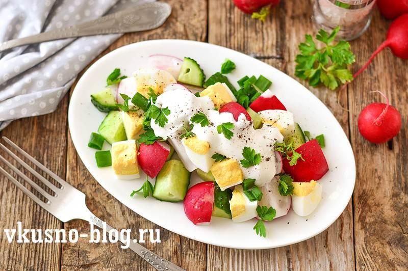Салат из редиски с яйцом рецепт