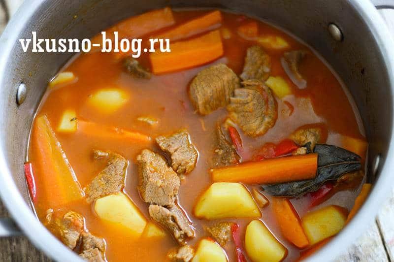 Суп-гуляш, пошаговый рецепт с фото