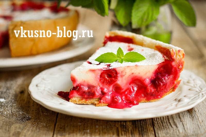 Вишневый пирог в мультиварке пошаговый рецепт