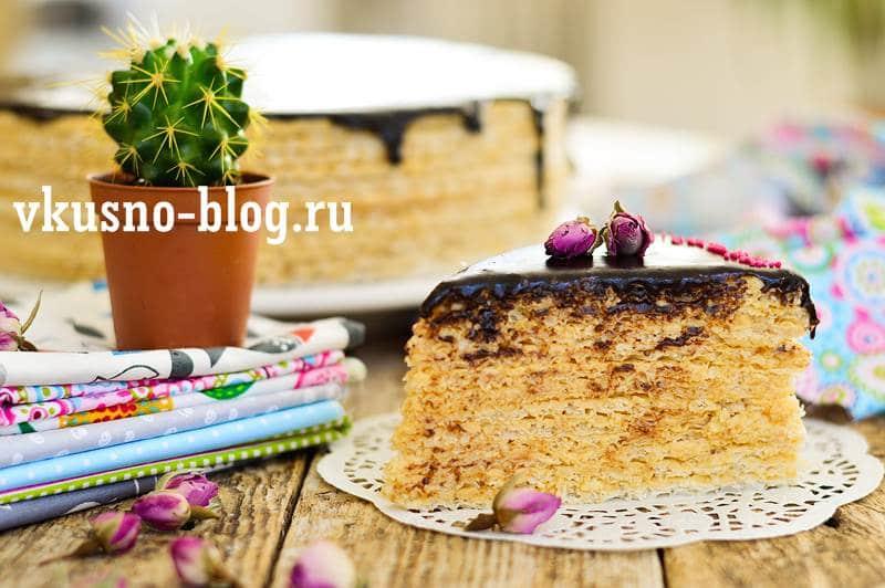 Вафельный торт со сгущенкой рецепт