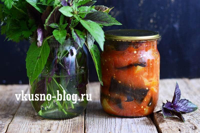 Соте с баклажанами на зиму пошаговый рецепт