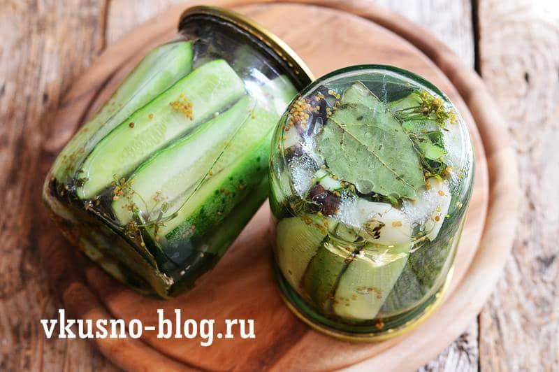 Маринованные огурцы с горчицей в зернах рецепт