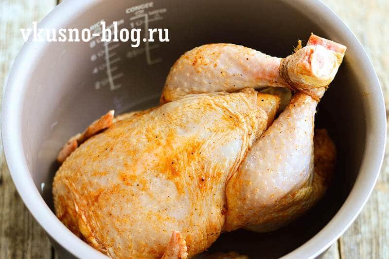 Курица в мультиварке целиком с хрустящей корочкой
