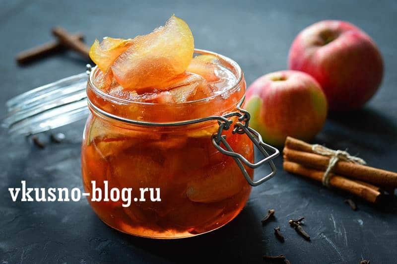 Яблочное варенье дольками янтарное