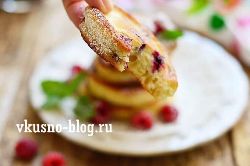 Оладьи с ягодами рецепт