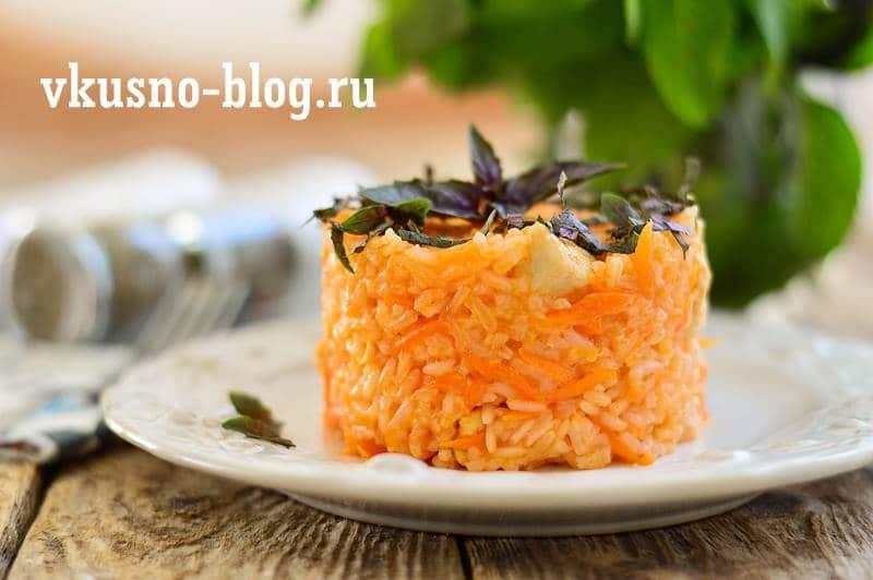 Рис с курицей в томате
