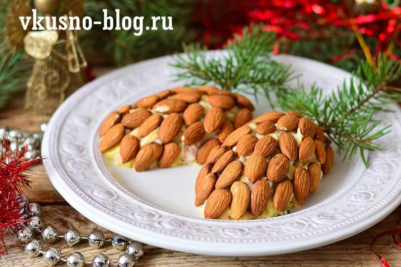 """Новогодний салат """"Еловая шишка"""""""