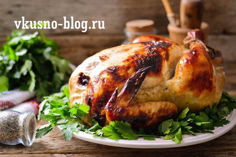 Курица запеченная в рукаве в духовке рецепт