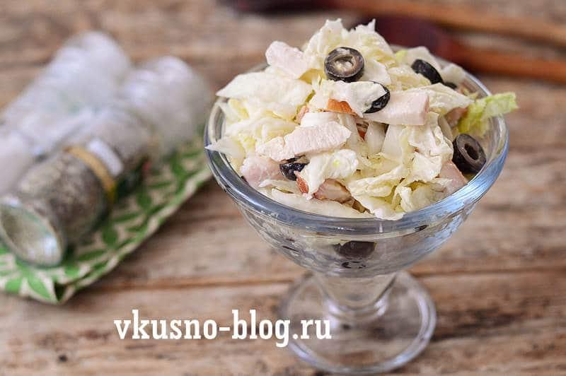 Салат с копченой курицей рецепт пошагово