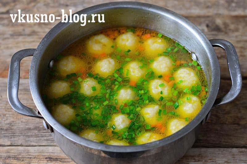 Суп с сырными шариками рецепт с фото