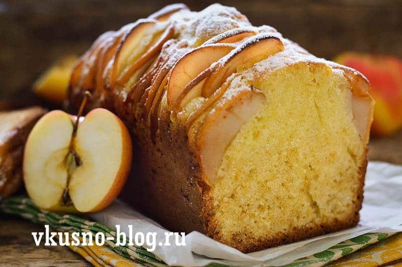 Кекс с яблоками рецепт с фото