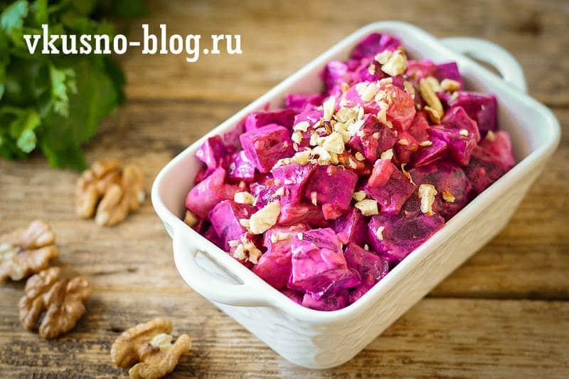 Салат со свеклой и курицей рецепт
