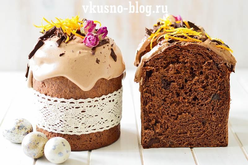Шоколадный кулич пошаговый рецепт с фото