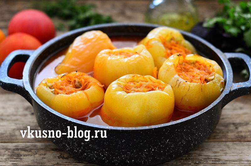 Перец фаршированный запеченный в духовке рецепт