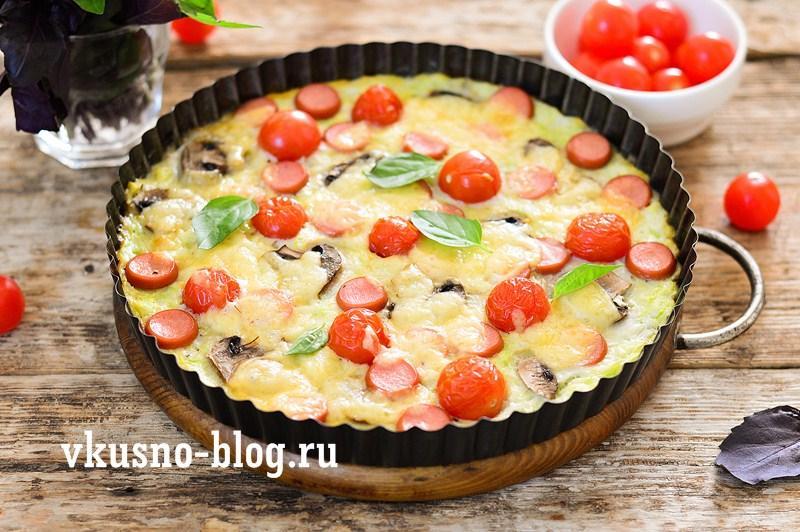 Кабачковая пицца рецепт