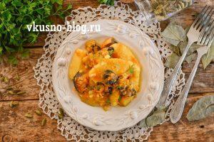 Тушеная картошка с шампиньонами