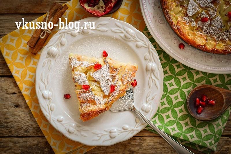 """Яблочный пирог """"Невидимка"""" рецепт пошаговый"""