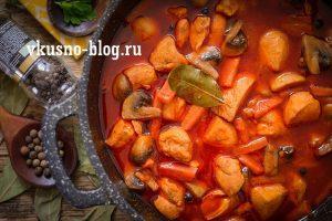 Как вкусно приготовить курицу с грибами на сковороде