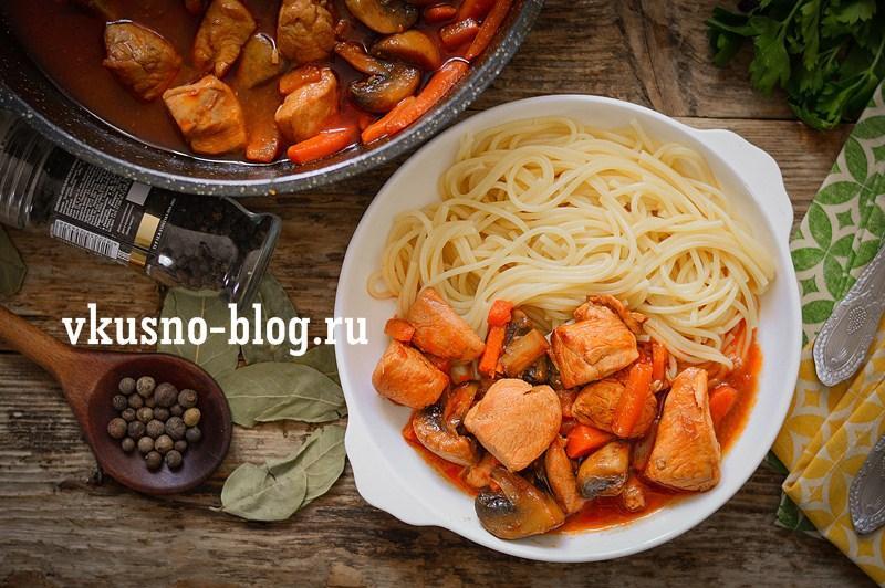 Как приготовить курицу с грибами на сковороде