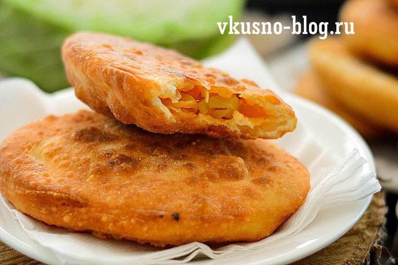 Жареные пирожки с капустой на кефире рецепт