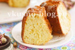 Кекс с апельсином (без масла)