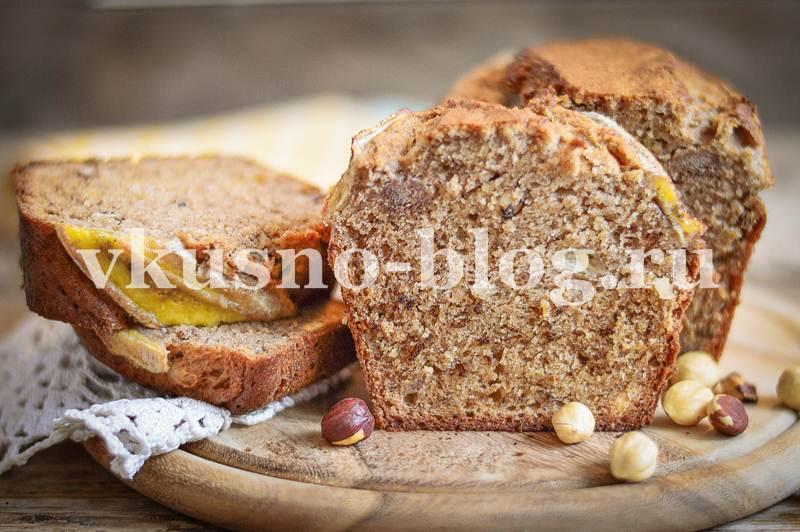 Кекс с бананом, орехами и корицей - пошаговый рецепт с фото
