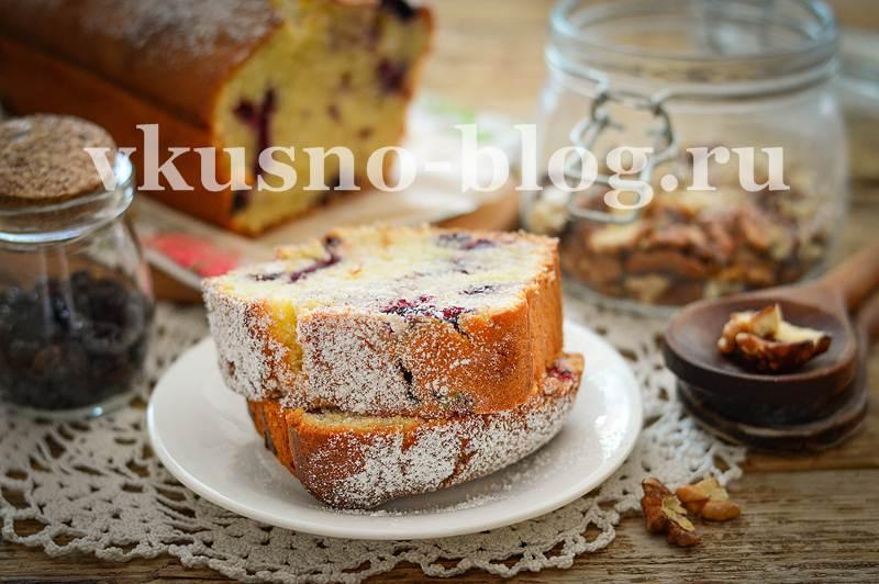 Кекс с ягодами - рецепт с фото