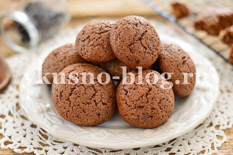 Шоколадное печенье с трещинками - рецепт с фото