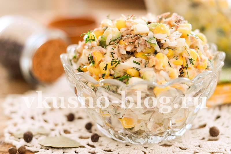 Салат с консервированным тунцом - пошаговый рецепт с фото