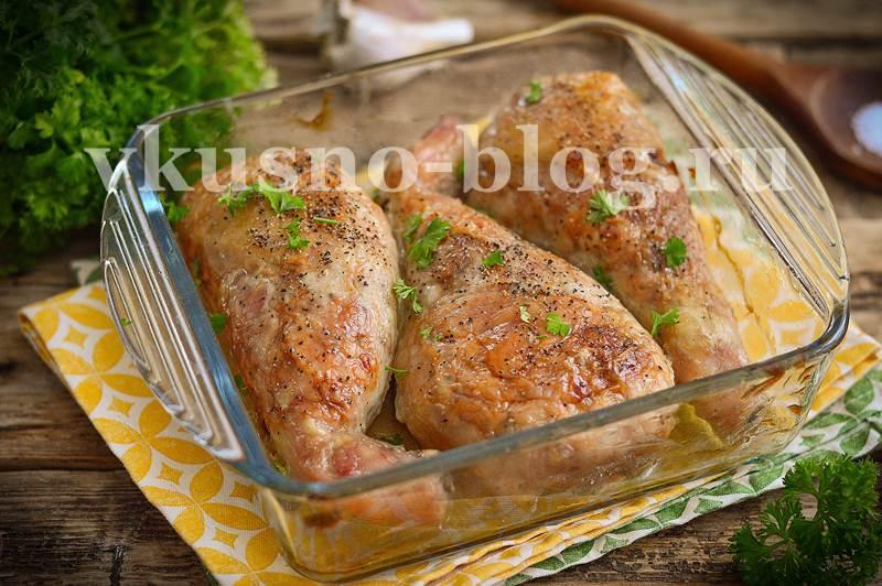 фаршированные куриные окорочка фото