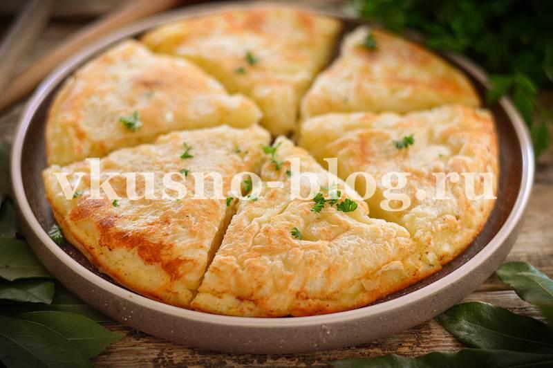 Ленивый хачапури с сыром на сковороде рецепт с фото