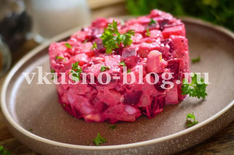 Салат со свеклой и сыром рецепт с фото пошагово