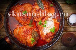 Курица в томате на сковороде