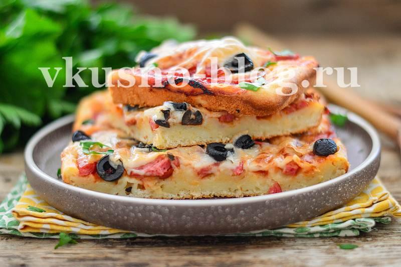 Ленивое тесто для пиццы на кефире