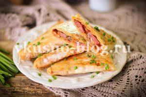 Пирожки из лаваша с капустой, приготовленные на сковороде