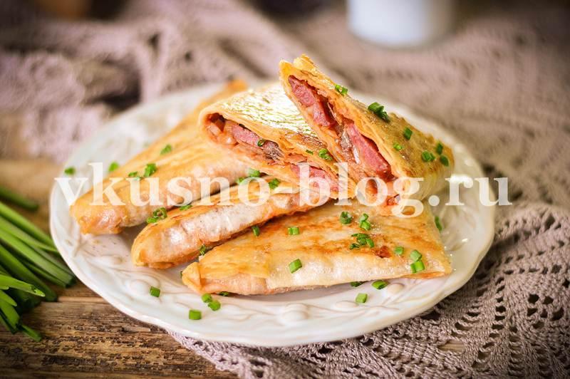 Пирожки из лаваша на сковороде с капустой