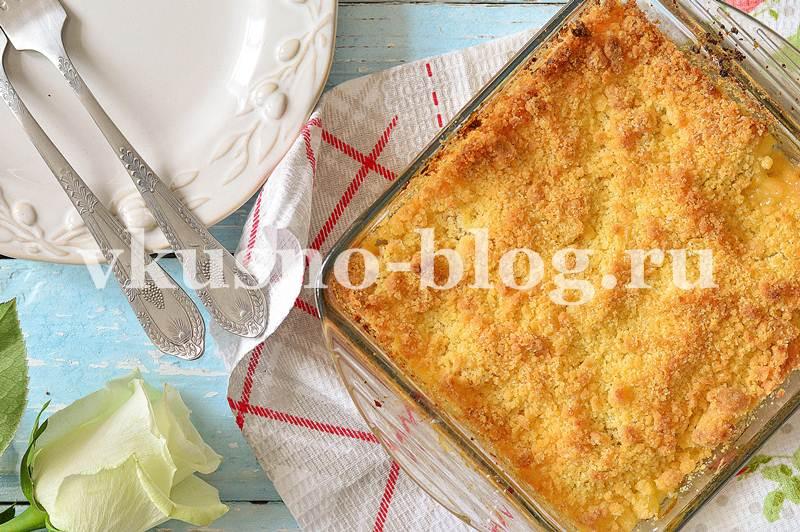 Крамбл рецепт с персиками